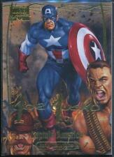 2016 Marvel Masterpieces Gold Foil Signature Trading Card #80 Captain America