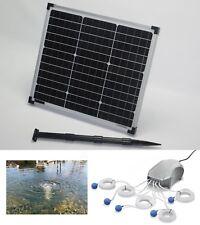 30W Solar Sauerstoff Pumpe 600l/h Teichbelüfter Gartenteich Belüftung Teich OVP