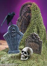 Halloween New Green Creepy Cloth Netting Graveyard Cemetery Tombstone Decoration