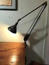 Vintage Adjustable Drafting Table Dazor Desk Light