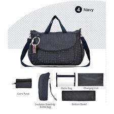 Baby Changing Diaper Nappy Bag Mummy Handbag Baby Travel Multifunctional 6pc set