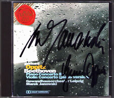 Gerhard OPPITZ & Marek JANOWSKI Signed BEETHOVEN Piano Concerto No.2 & 6 RCA CD