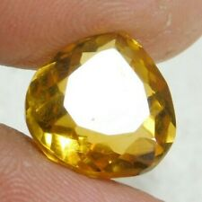 UNTREATED NATURAL 7.35 Cts PEAR CUT  YELLOW SAPPHIRE GEMSTONES RM708