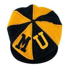 Vintage Missouri Tigers Wool Flat Cap Frat Newsboy Cabbie Hat Mens Size 7 1/8