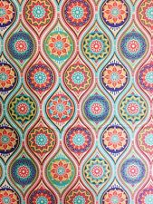 Delhi Indian Tiles 100% Cotton Fabric Material BY HALF METRE