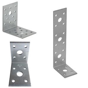 Corner Angle Bracket L shape Heavy Duty Right Metal Galvanised 2.5mm thick