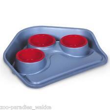 3 fach Futterbar Futtercenter - Futter Tablett mit drei Näpfe für Hunde, Katzen
