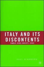 Italy and Its Discontents: Family, Civil Society, State-ExLibrary