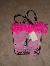"Dolly Mama's Joey ""Put on Big Girl Panties"" pink feather boa sequins purse bag"