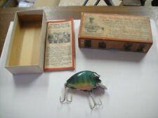 Vintage Heddon Punkinseed Wooden Fishing Lure Bgl In Orig Box w/ Paperwork