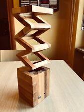Lampada da tavolo in legno di faggio fatta a mano - led