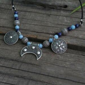 Fibelkette LUNA Wikinger Schmuck Runenperlen Gewandung Schürzenkette Halskette