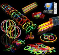 Premium Glow In The Dark Party Sticks with Connectors Set - 7 Colors (456pcs)