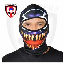 Road Riders Motorcycle Full Face Protective Mask - PURPLE
