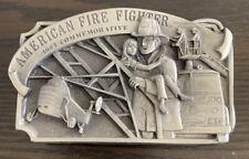 1982 Arroyo Grande American Firefighter Commemorative Belt Buckle Limited