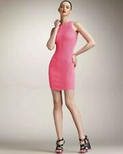 McQ Alexander McQueen Neon Pink Knit Dress Size M IT42 AUS/UK10 US6