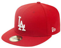 NEW ERA LA LOS ANGELES DODGERS BASE RED MLB Cappello 5950 Fitted Team da