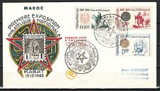 Morocco, Scott cat. 70-72. National Stamp Expo issue. First day cover.