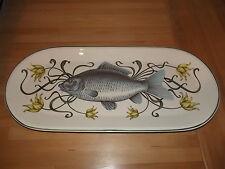 Villeroy & Boch LA MER Carp Fish Oval Serving platter / Plate 20 3/4 x 9 1/4 in