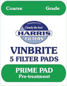 Harris Filters Vinbrite 5 Filter Pads Coarse