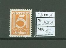 Austria E25 MLH 1925 1v CV 5 eur