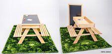 Sandkasten Kindersitzgruppe 4in1 Kinder Sitzgarnitur Holz Garten Bank Maltisch