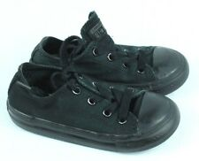 Converse Toddler Infant Shoes Size 8 All Black Canvas All Star Taylor Low Chucks