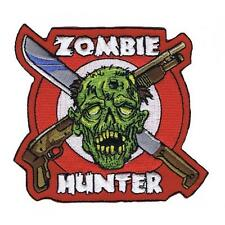 Lethal Threat Motorcycle Bike Jacket Embroidered Patch ZOMBIE HUNT MN32061 SMALL