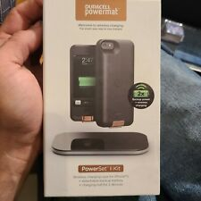 Duracell Powermat PowerSnap Kit for iPhone 5,5S,5Se Charging Case Battery Backup