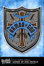 Jesus Decal - God - Christ - Christian - Cross - Armor of God Shield Decal