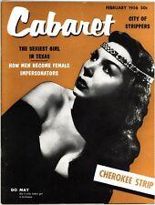 CABARET - Feb 1956 - vintage stag men's girlie magazine