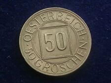 """50 Groschen 1934 """" Nachtschilling """"   Österreich  - Erhaltung  W/19/497"""