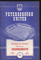 1961/62 PETERBOROUGH UNITED V BOURNEMOUTH 07-10-1961 Division 3