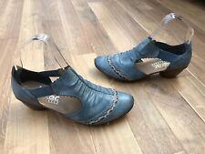 Reiker señoras de cuero zapatos 36 3 Azul Sandalias Zapatos Rieker