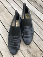 Ladies Marks & Spencer Dark Blue leather upper leather court shoes size 6