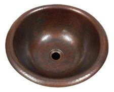 "14"" Round Copper Self Rimming Drop in Vanity Sink"