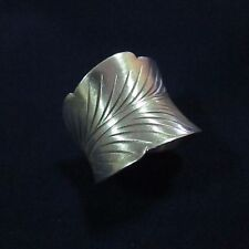 Fine Silver Rings HILLTRIBE Ethno Anello Argento Classic Feather Band Ring 56040