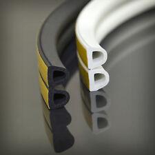 Gummi-,Tür-,Fensterdichtung Profil D selbstklebend Dichtband schwarz ver. Größen