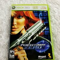 Perfect Dark Zero for XBOX 360 complete disc manual case cover RATED M