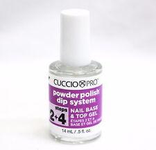 Cuccio Pro Powder Polish DIP System Step 2 4 Nail Base & Top GEL 0.5 Ounce