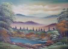 ORIGINAL OIL PAINTING on Stretched Canvas - Gracious Land by SP Soni