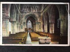 RP Vintage Postcard - Staffordshire #A9 - Interior St. Marys Church, Stafford