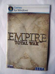 45430 Instruction Booklet - Empire Total War - PC (2002) MAN-S083-UK