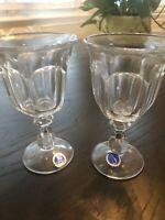 Vintage Set Of 2 Imperial Old Williamsburg Clear Wine Glasses
