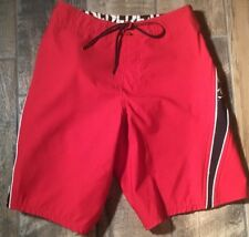 ONeil Superfreak  Boys  Red and Black Lace up Boardshorts Size 26