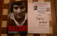 Football My Life SIGNED Lou Macari HB 1st/1st 2008 Autobiography + Event Ticket