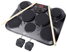 Pyle Portable Electric Tabletop Drum Set 7 Pad Digital Drum Kit Usb Led Display