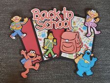 Back to school sesame street scrapbook set photo mats & printe die cuts set #266