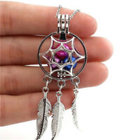 Dream Catcher Pearl Cage Floating Locket Necklace NO Akoya Oyster Pearl Pendant