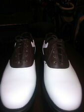 Callaway Saddle Golf Shoes White Brown Black Leather  Men's Size 12